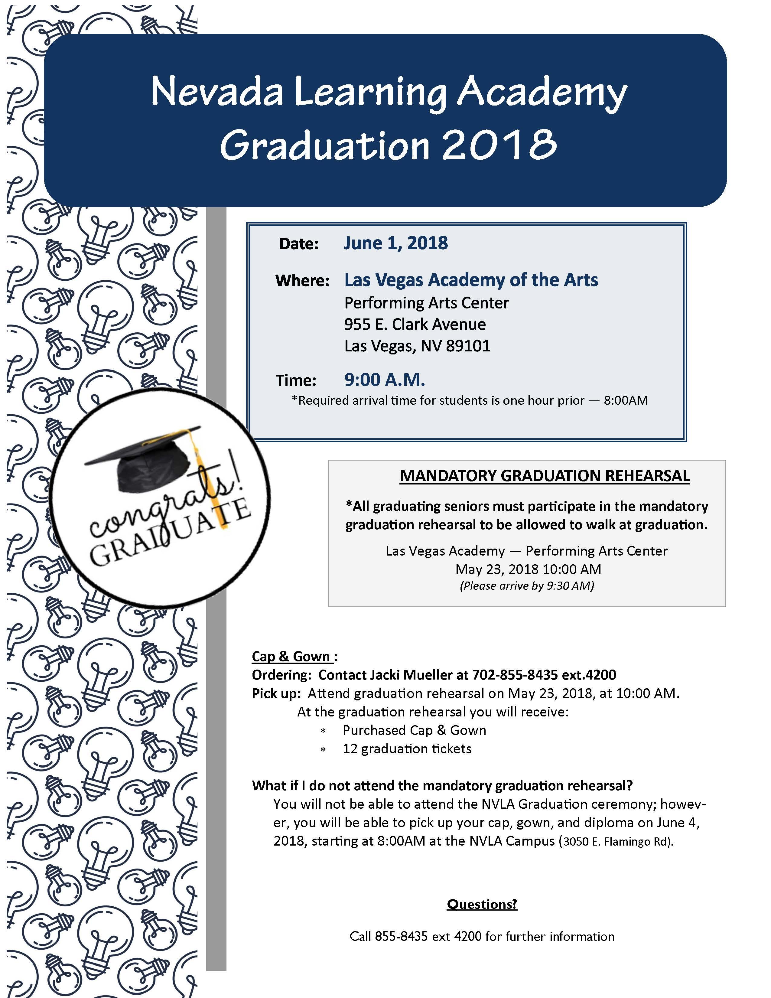 Graduation Informational Flyer