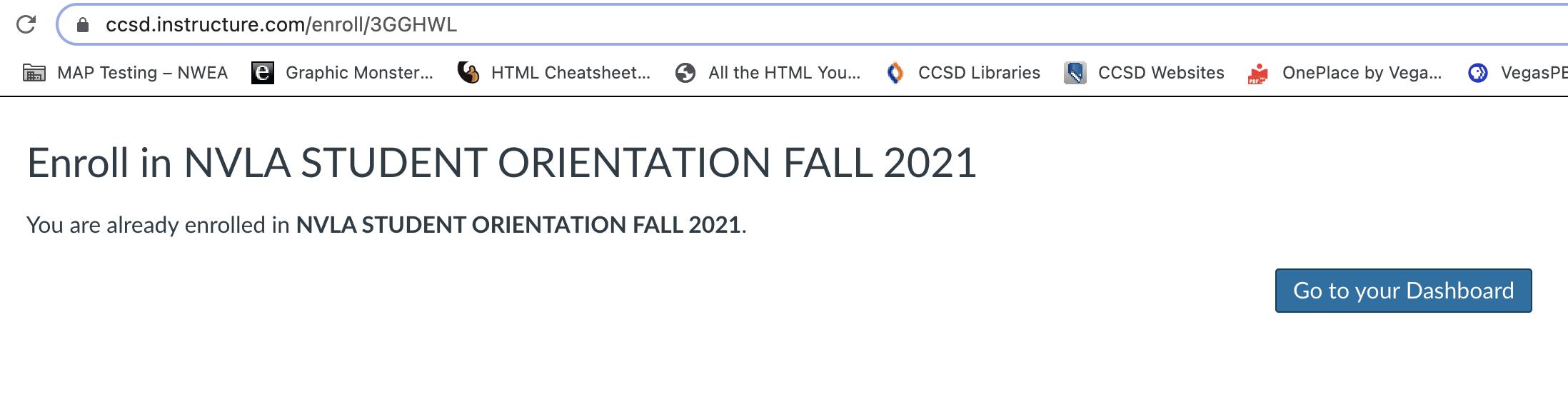 Student Orientation Self Enroll